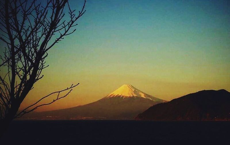 Sunset view on Mt. Fuji