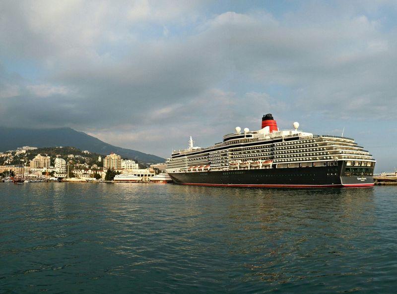 The cruise ship QUEEN VICTORIA Hello World