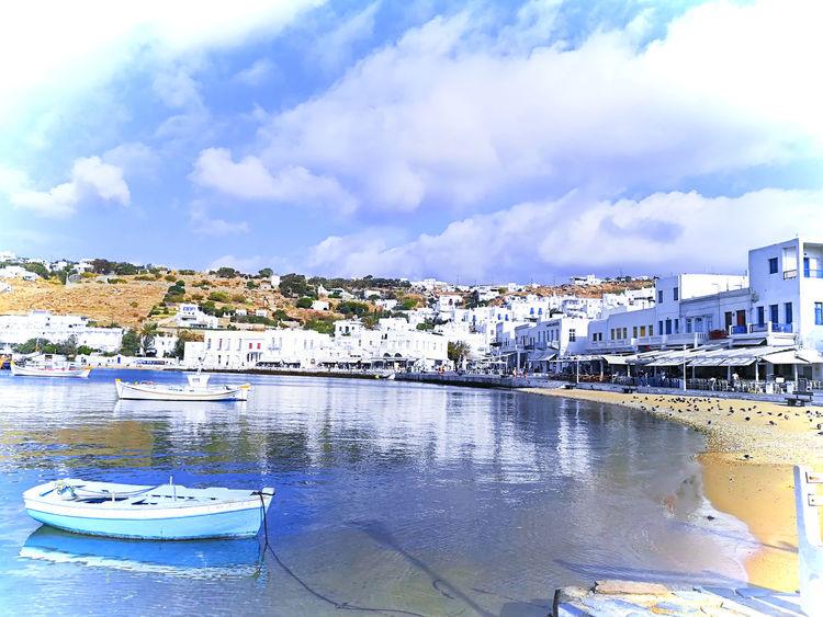 Lost In The Landscape Mykonos,Greece Boat Landscape Mykonos Mykonostown Oldport Port