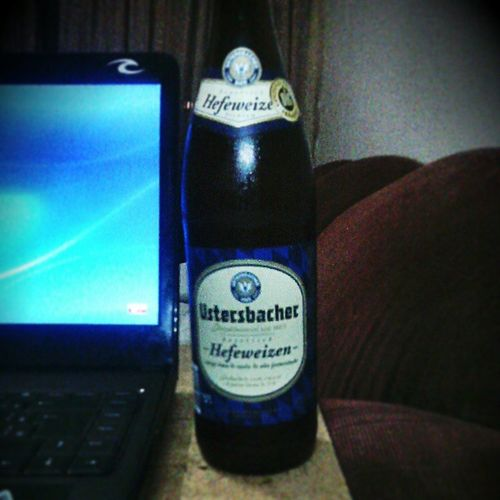 Beer Sugary Ustersbacher Hefeweizen German Bodied Goldenlight Billsbanana Creamtexture Delicious Carapracaralho