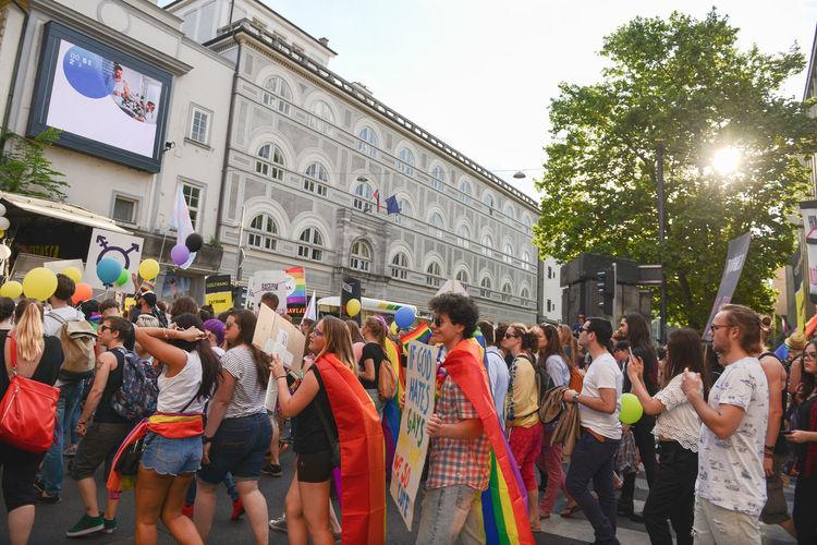 Gay Gay Parade   Lesbian LGTB Lgtbpride LGTBQ Marching Parade Pride Pride Parade Prostest Protest Protesters Protesting Protestor Protests Rainbow Rainbow Flag Ranbow Street The Photojournalist - 2017 EyeEm Awards The Street Photographer - 2017 EyeEm Awards