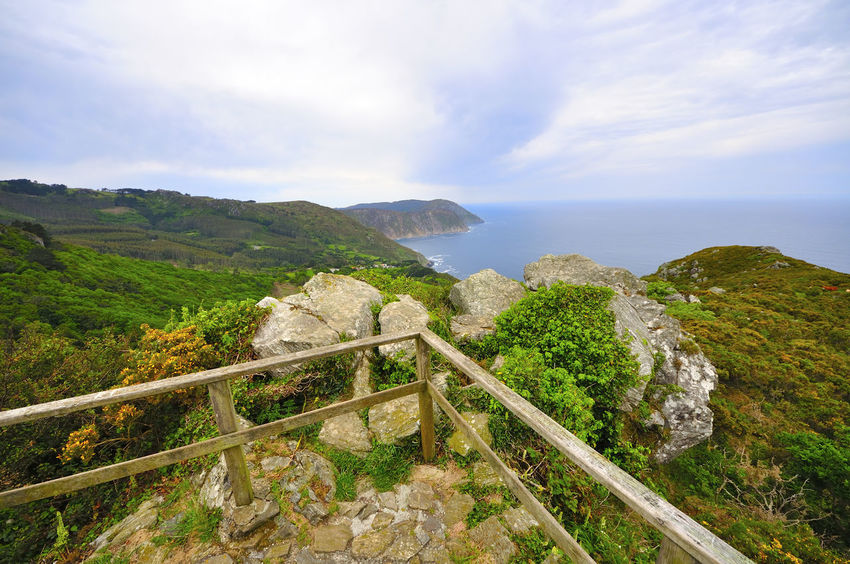 coast of death in galicia spain SPAIN Coast Of Death Galicia Spain Beauty In Nature Cloud - Sky Coast Of Death In Galicia Spain Day High Angle View Horizon Over Water Landscape Mountain Nature No People Outdoors Scenics Sea Sky Tranquil Scene Tranquility Water