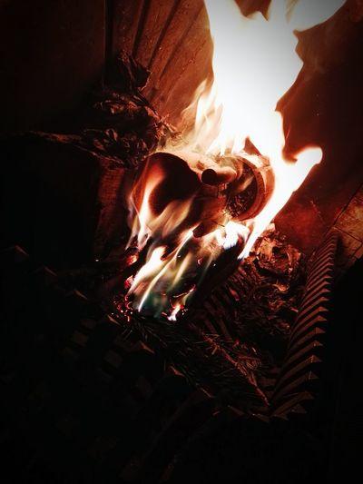 Illuminated Fire Fireplace Bluefire Background Wallpapers