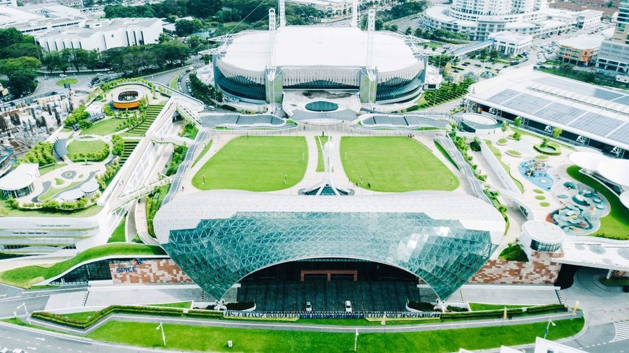Spice Arena , Pulau Pinang , Malaysia Aerial View Drone  Architecture Built Structure Building Exterior Day Outdoors Modern No People