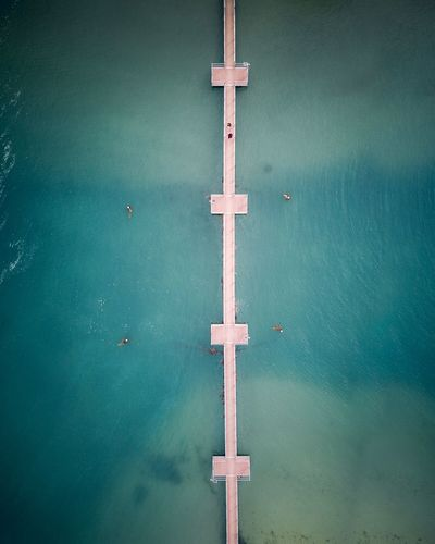Bridge to paradise. DJI X Eyeem DJI Mavic Pro Dji Drone Photography Drone  Bridge Blue Day Water No People Outdoors Close-up Stories From The City The Architect - 2018 EyeEm Awards