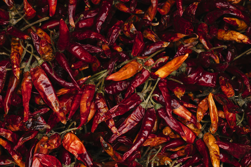 dryed red chilli peppers Food And Drink Full Frame Food Backgrounds Spice Chili Pepper Abundance Pepper Vegetable Red Freshness Wellbeing Healthy Eating Red Chili Pepper No People Large Group Of Objects Still Life Close-up Dried Food Chili  Paprika