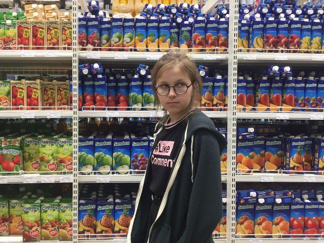 Shop Supermarket Day Food Shelf Abundance Girl