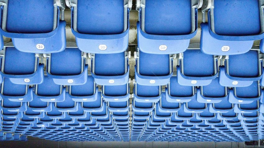 Chair Blue Stadium Art No People Germany Backgrounds Day Close-up Chair Design Chair Art EyeEmNewHere