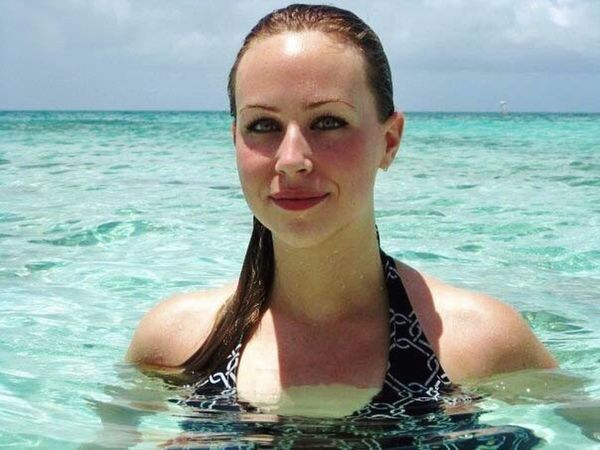 Turks And Caicos Carribean Beauty Female Young Woman Ocean Swimming