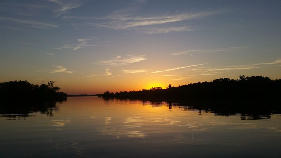 Enjoying Life, water, sunsets, sky and clouds, Elk River, Grand lake of the Cherokees, Grove, Oklahoma, United States