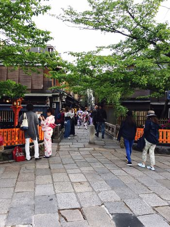 Gion Tree Large Group Of People Full Length Women Walking Outdoors Religion Men Architecture Day Real People Adult Building Exterior People Sky Young Adult Adults Only