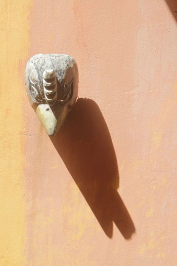 Art Caribbean Close-up Decoration Historical Historical Sculpture On A Wall Outdoors Sculpture Shadow
