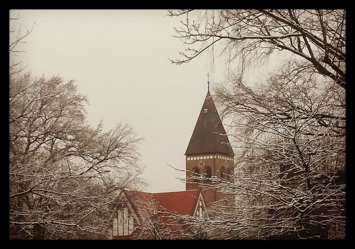 The first sight after getting Snow City Snow Day Hamburg Church