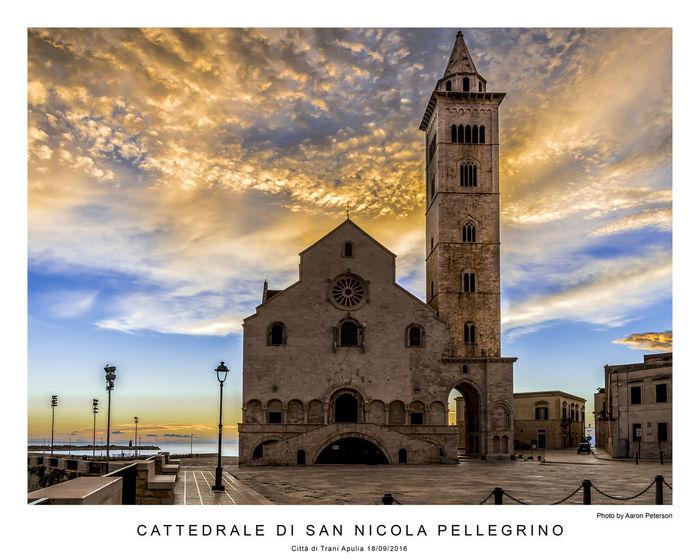 Apúlia Cathedral Italia Puglia Trani Architecture Building Exterior Italy Place Of Worship Spirituality Sunrise Travel Destinations