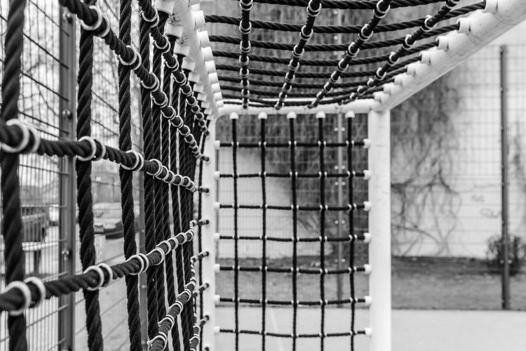 Black & White Black And White Day Football Goal Fußballtor Goal Indoors  Lock Locker Room Metal No People Protection Safety Security Soccer Soccer Field Street Soccer Urban Urban Exploration