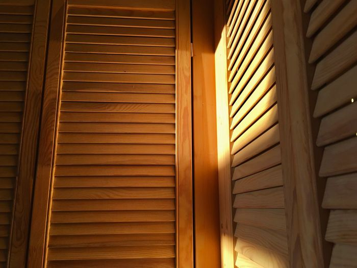 Blinds Brown Cabinet Close-up Closed Closet Corridor Day Hall Home Interior In A Row Indoors  Locker Modern Order Shadow Shadowplay Shadows & Lights Sun Sunlight Sunrise Warm Wood Wood - Material Wooden
