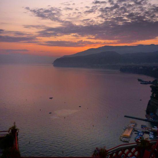 Sorrento sunset Sunset Sorrento Italy Amalfi Coast View Sea Travel Photography Photanaka Clouds Showcase : November
