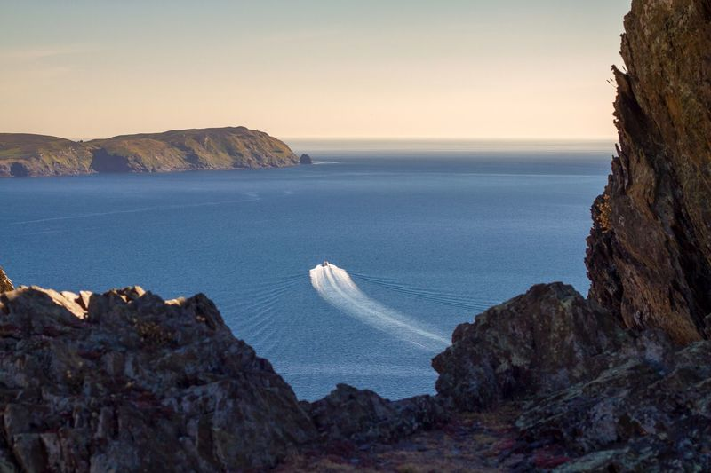 Bradda Head Isle Of Man Sea Water Beauty In Nature Scenics - Nature Horizon Over Water Tranquility Rock Tranquil Scene Nature Sky Land Beach Rock - Object Horizon Solid No People Rock Formation Idyllic Cliff Outdoors