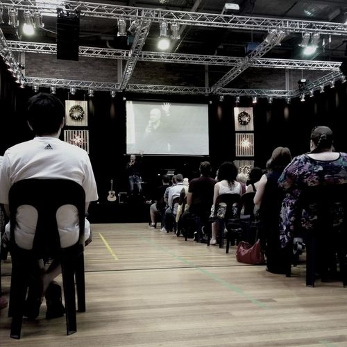 Sunday service at SouthCity Church. Ps. Ken preaching the Word.