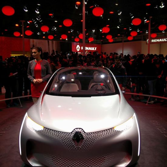 Renault Ecofriendly Supercar Conceptcar in Autoexpo2016 New Delhi India