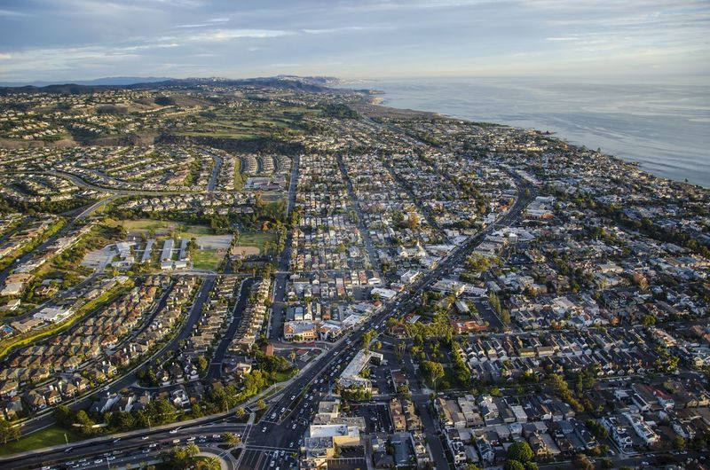 Aerial view of orange county