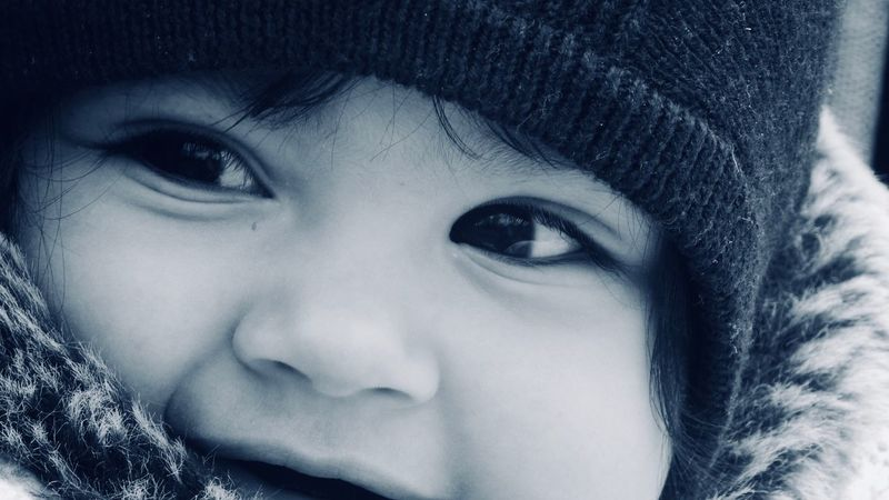 Human Face Only Women Close-up One Person People Beauty Headshot Winter Babygirl ♥ Mylove ❤️ Shades Of Winter