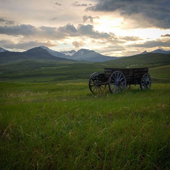 Promised Land Promised Land Beauty In Nature No People Scenics Landscape Nature Mountain Old West  Wagon Wheel Wagon  Canada Nostalgia