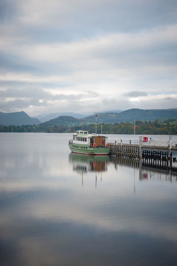 Lake District Ullswater Beauty In Nature Built Structure Cloud - Sky Day Jetty Lake Mode Of Transportation Mountain Nature Nautical Vessel No People Outdoors Reflection Scenics - Nature Ship Sky Tranquil Scene Tranquility Transportation Water Waterfront