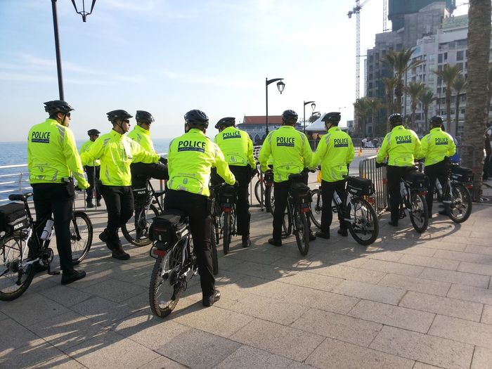 police by bike