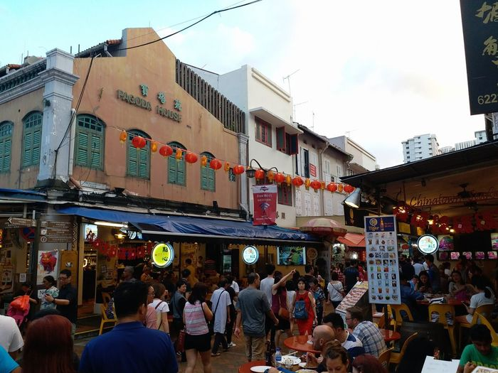 Exploring Chinatown in Singapore Singapore Chinatown Chinese New Year Cny Walk Retail  Store Building Exterior Market City Architecture City Life Street Outdoors Large Group Of People Travel Destinations Day Built Structure Business City Street