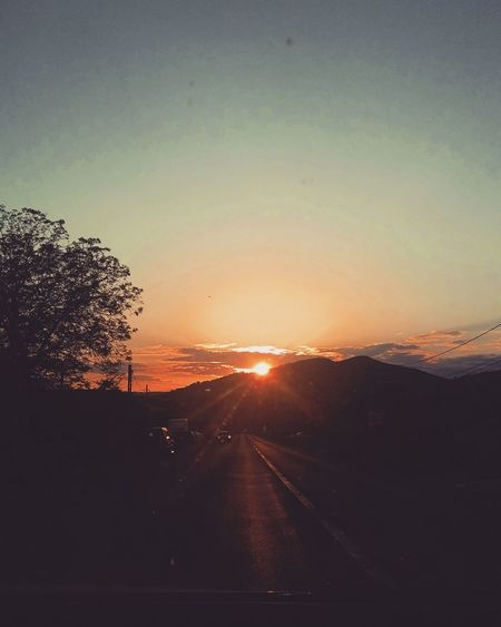 4-->5 mai 2018 Sky Sunset Nature Environment Sunlight No People City Sun Tranquility Cloud - Sky Landscape Architecture Idyllic Road Outdoors Tranquil Scene Silhouette Beauty In Nature Scenics - Nature Copy Space