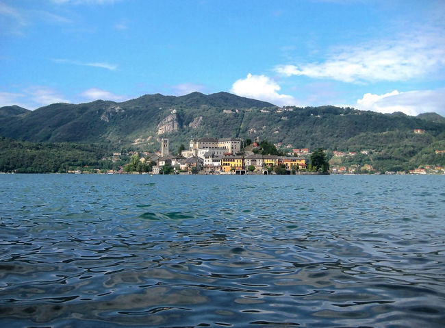isola di S.Giulio Built Structure Cloud - Sky Lago D'Orta Mountain No People Orta S.Giulio Outdoors Water