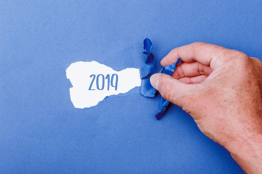 2019 Greeting Happy New New Year Revealing Silvester Beginning Change Opening Plans Secret Start Year