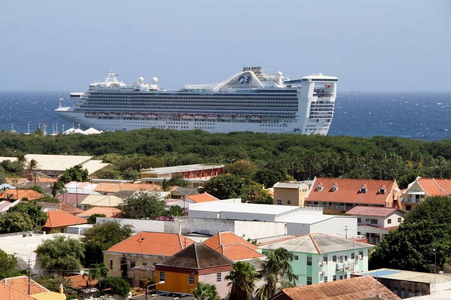 Caribbean Sea Cruise Ship Architecture Building Exterior Built Structure City Cityscape Day House Nautical Vessel No People Otrabanda Outdoors Roof Sea Sky Transportation Water