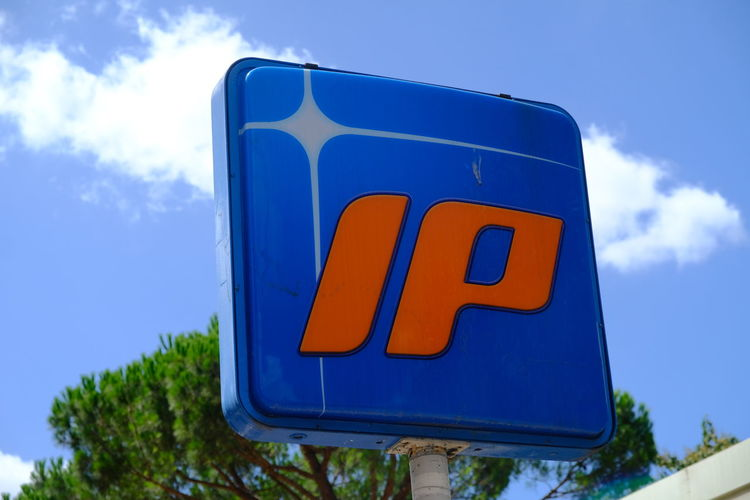 Rome, Italy - August 11, 2017: IP petrol station. IP - Italian Petroli S.p.A. is an Italian oil company, based in Genoa, which is now a brand of the API Fuel Pump Gas Gasoline Logo Power Traffic Transport Transportation Editorial  Energy Environmental Damage Fuel Station Fuelstation Gasolinestation Lubricant Mineral No People Oilstation Petrol Pump Petrol Station Petroleum Pollution Refueling Tank Transportation