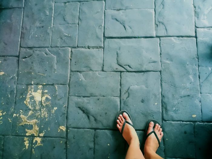 Low Section Personal Perspective Standing Outdoors Sandal People Huaweigr52017 Eyeem Philippines Philippines Feet Myperspective Floor Tiles