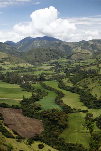 Ecuador♥ Nono Scenics - Nature Landscape Environment Beauty In Nature Green Color Tranquil Scene Cloud - Sky Mountain Tranquility Land Sky Plant Non-urban Scene Nature Day No People Tree Growth Grass Idyllic Outdoors Rolling Landscape