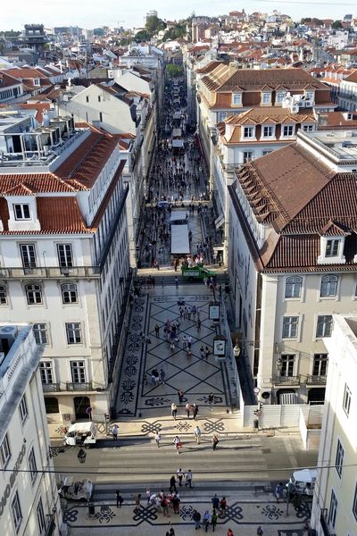 From Above  Portugal Portuguese Architecture Praça Do Comércio Rua Augusta Arch Architecture Arco Da Rua Augusta Baixa Building Exterior Built Structure Crowd Of People Depth Of Field From The Rooftop Lisboa Lisbon Rua Augusta Shoppers Shopping Street Street Street Photography