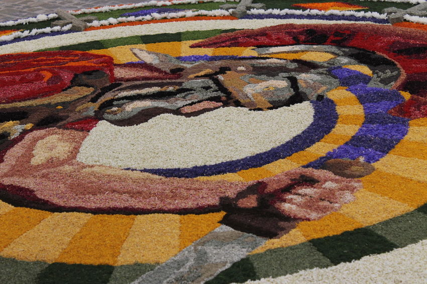 Art Christianity Colours Of Nature Creativity Festival Of Flower Flower Art Hard Working Team Infiorata Infiorata 2016 Italy Multi Colored Outdoors Religious Festival Shapes And Lines Smellsgood Spello Street Art Tourism Umbria, Italy Warrior