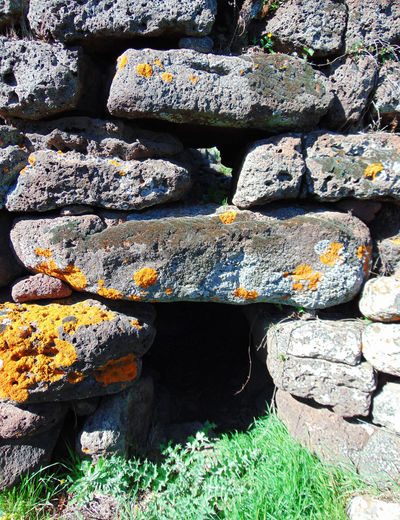 Abundance Beauty In Nature Close-up Day Grass Green Color Growth Landscape Moss Nature No People Nuraghe Outdoors Plant Prehistoric Rock Rock - Object Sardegna Sardinia Scenics Stone Stone - Object Stone Wall Tranquil Scene Tranquility