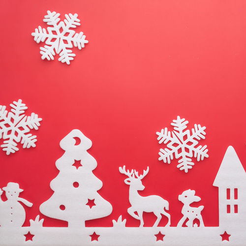 Copy Space Home Red Reindeer Square Tree Celebration Christmas Christmas Decoration Color Freshness Holiday - Event Instagram No People Red Snowflake Snowflakes Snowman Snowman⛄ Square Crop Studio Shot Tradition Wallapper