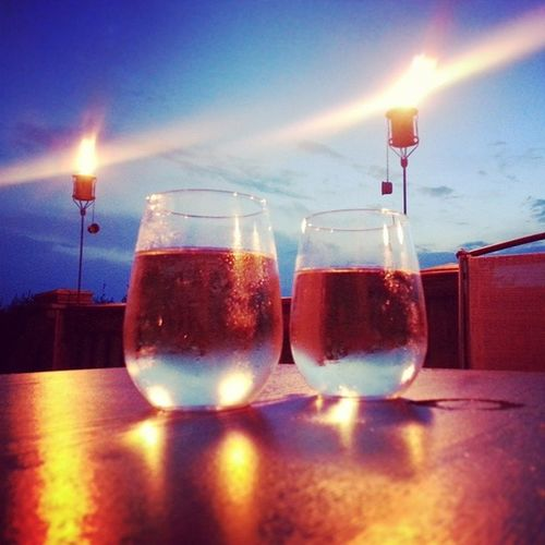 Much needed wine date with the hubby on the deck. Winelover Datenight HubbyTime