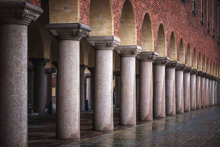 Colonnade Of Stockholm City Hall