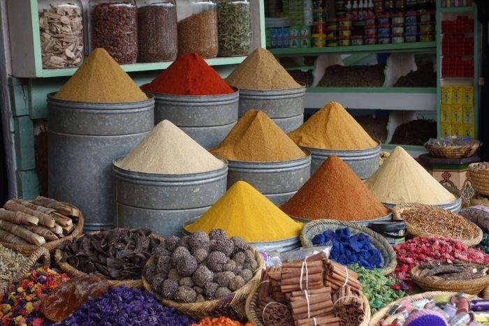 #market #marocco #spices Arrangement Basket Food For Sale Freshness Market Multi Colored No People Small Business Spice Variation