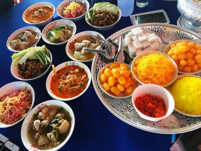 Thai foods and sweets in wedding party Wedding Party Food Sweets Desserts Thai Top View Dishes