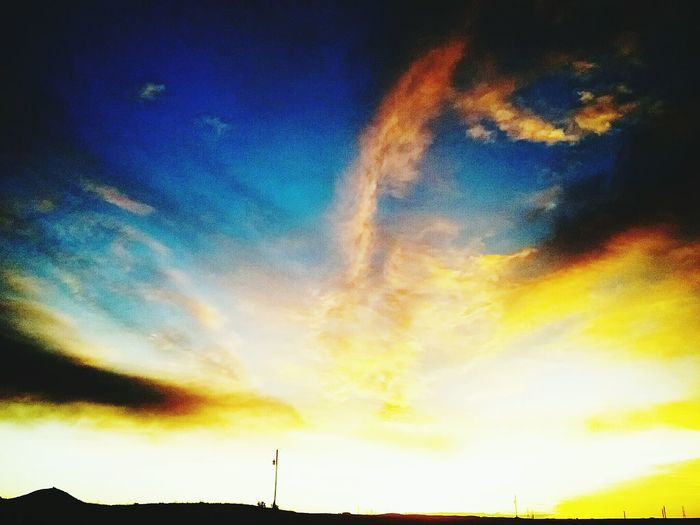Sky Dramatic Sky Sunset Cloud - Sky Tranquil Scene Tranquility Outdoors Beauty In Nature No People Multi Colored Galaxy Day