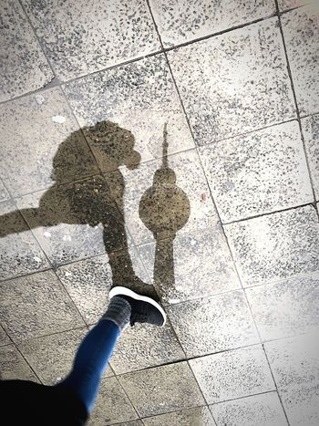 Reflection_collection Reflection One Person Shadow Human Body Part Real People High Angle View Unrecognizable Person Lifestyles Water Street Nature Wet A New Perspective On Life Human Connection