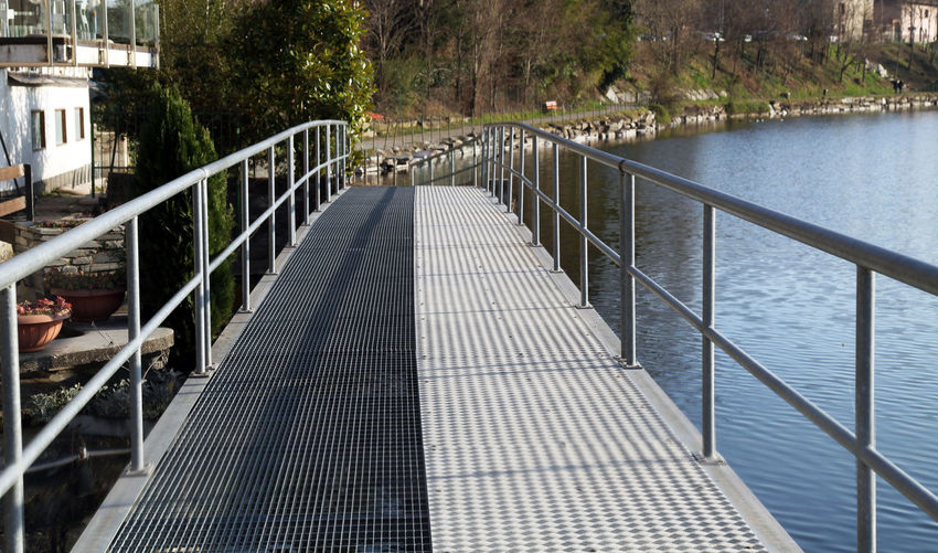 Footbridge over water