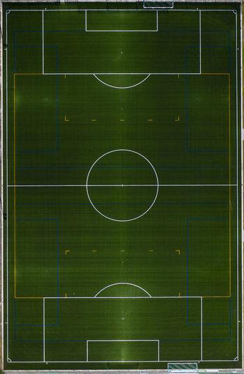 Digital composite image of soccer field