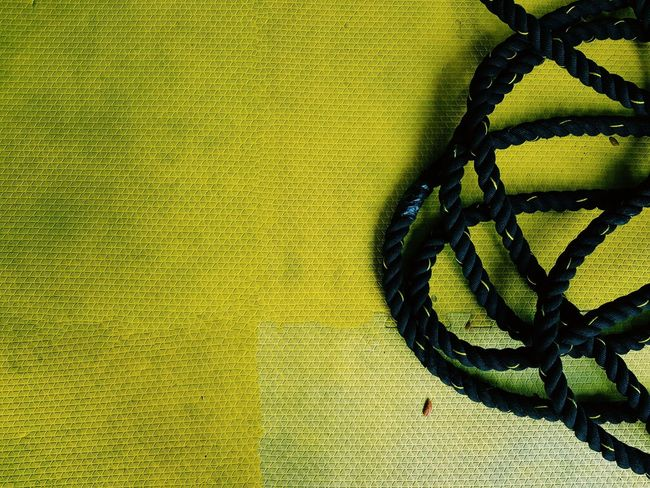 Yellow Colors Rope Tie Battle Fight Liberated Imprisoned Let It Be